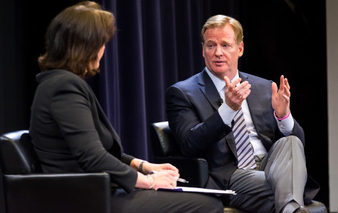 NFL Commissioner Roger Goodell talks to Northwestern students at Medill Q&A