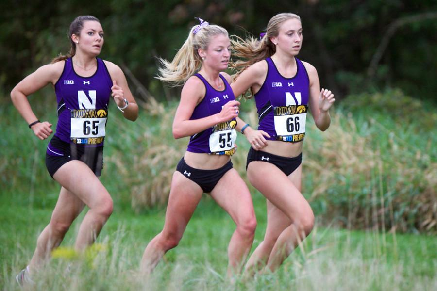 Northwestern+runners+compete+in+the+fall+cross+country+season.+A+trio+of+Wildcats+made+strong+pushes+for+NCAA+qualifying+times+at+the+Drake+Relays+on+Thursday.