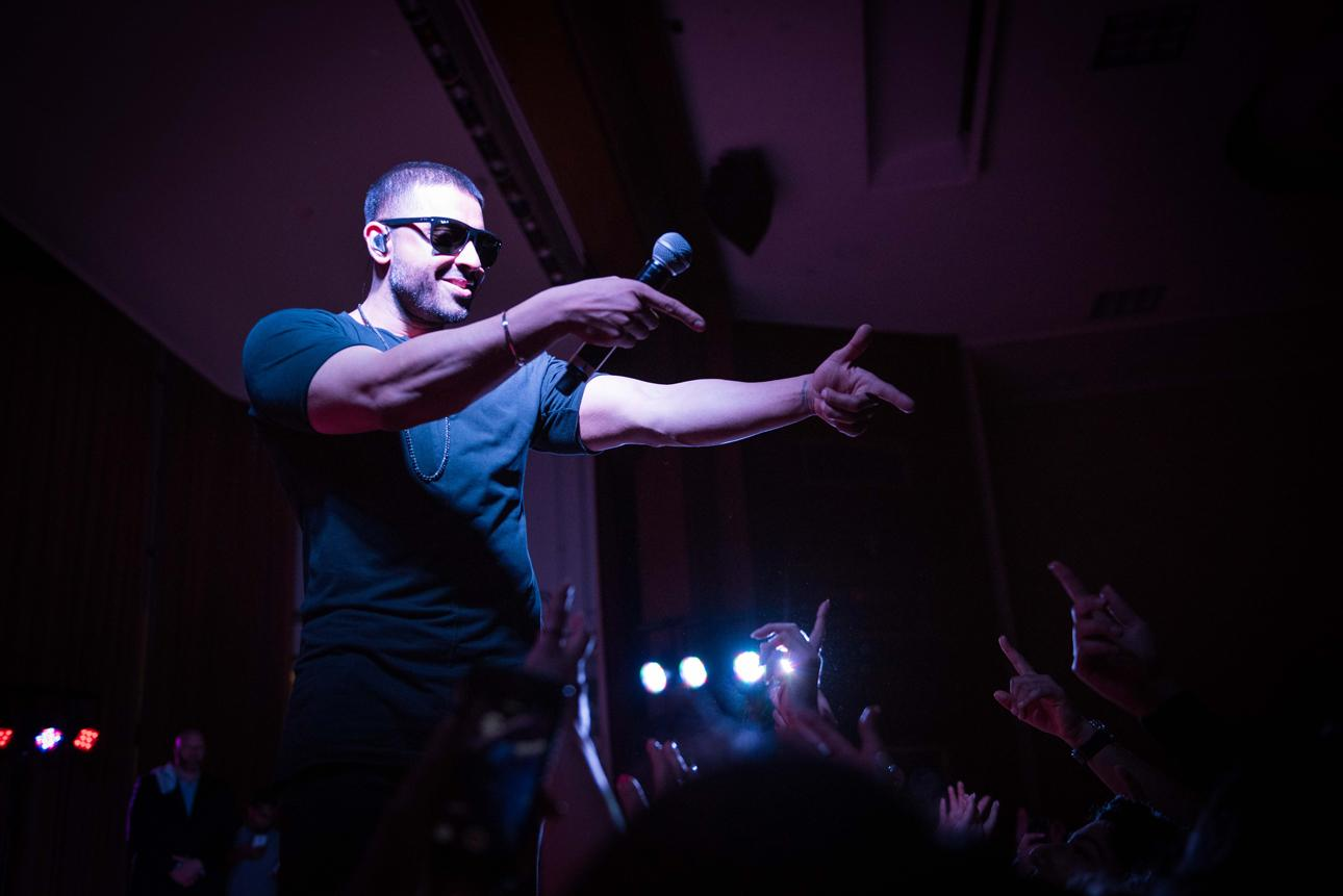 Jay Sean performs Friday night at Ryan Auditorium. Sean came to campus as part of the South Asian Student Alliance's spring benefit concert.