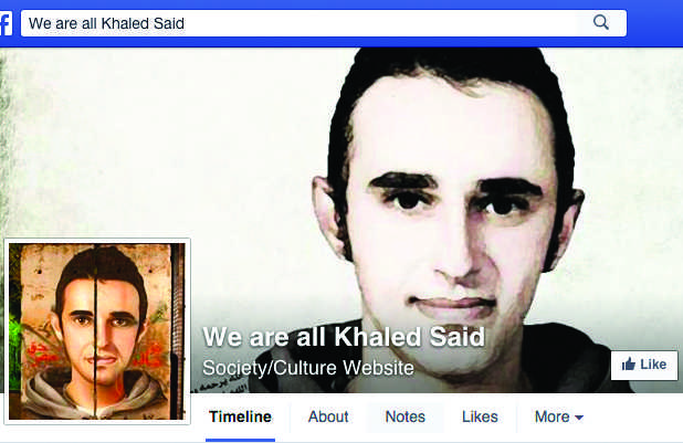 """Wael Ghonim created a Facebook page that played a major role in organizing citizens during the Egyptian Revolution. """"We are all Khaled Said"""" received 100,000 """"likes"""" in three days."""