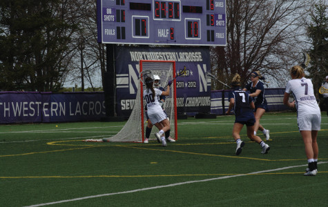 Corinne Wessels finds the back of the net. The freshman had 2 goals off the bench in Northwestern's losing effort.