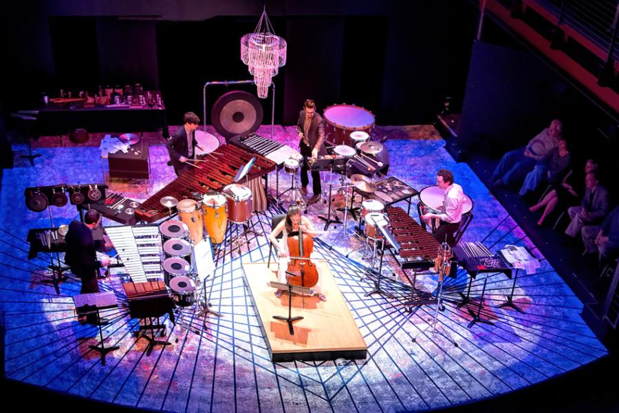Third Coast Percussion performs with a cellist in Walla Walla.