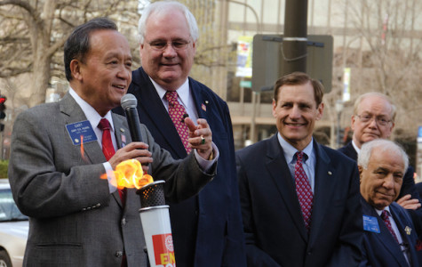 Rotary Flame lit in Evanston to celebrate near-eradication of polio