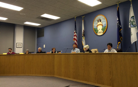 Evanston Preservation Commission members, along with the city's preservation coordinator Carlos Ruiz, deliberate Northwestern's proposal to rezone the campus. Their changes to the proposal included dividing NU into five zones as opposed to its current two, as well as requesting the ability to review proposals for major projects within 250 feet east of Sheridan Road.