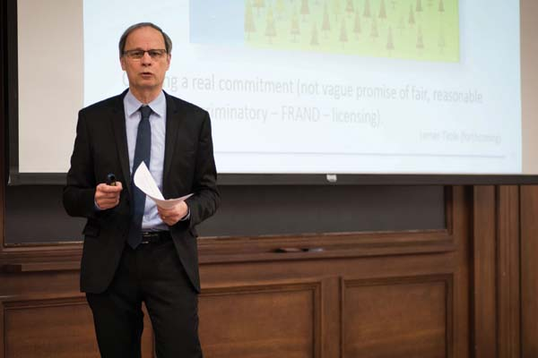 Award-winning economist Jean Tirole discusses industrial regulation and complex markets at an Undergraduate Economics Society event Tuesday. Tirole won the University's Erwin Plein Nemmers Prize in Economics in February of 2014.