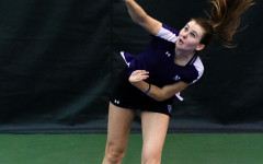 Freshman Erin Larner smashes a serve. Larner is looking to help Northwestern win its 16th Big Ten Tournament in the past 17 years.