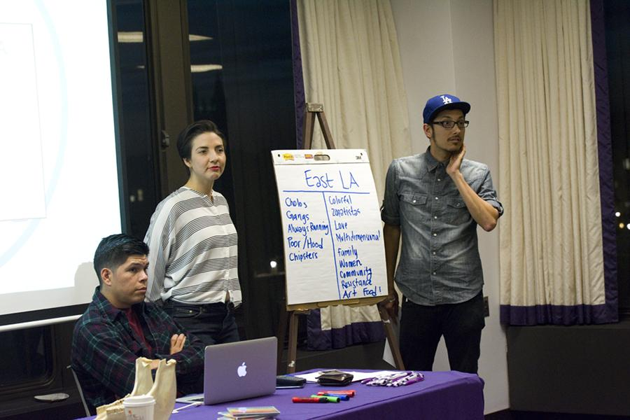 Members of Chicano band Las Cafeteras discuss different stereotypes people have of East Los Angeles. The band spoke at Alianza's spring speaker event and received the annual ¡Ahora! Award.