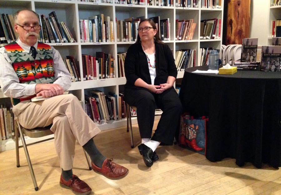 """Authors David Beck and Rosalyn LaPier discuss their book, """"City Indian: Native American Activism in Chicago, 1893-1934."""" The authors visited the Mitchell Museum of the American Indian on Thursday to talk about how activists organized around Native American issues."""