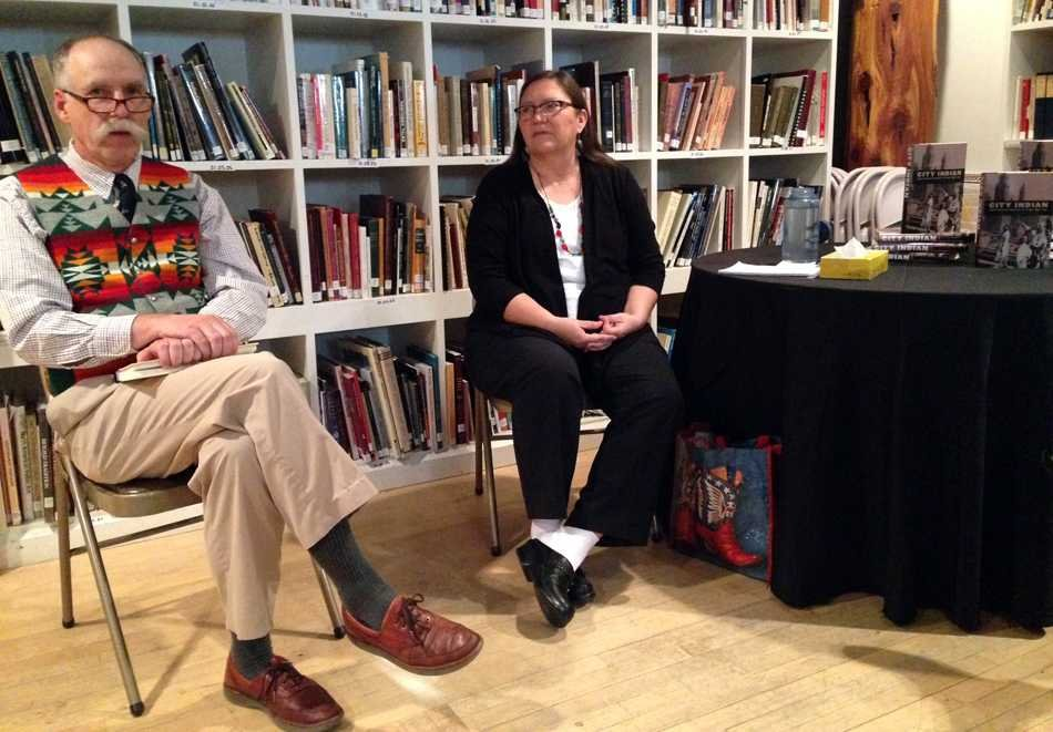 "Authors David Beck and Rosalyn LaPier discuss their book, ""City Indian: Native American Activism in Chicago, 1893-1934."" The authors visited the Mitchell Museum of the American Indian on Thursday to talk about how activists organized around Native American issues."