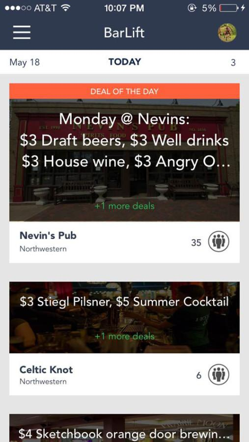BarLift+displays+a+list+of+local+discounts+in+Evanston+and+Chicago+bars.+The+application%2C+created+by+Northwestern+students%2C+launched+its+second+version+this+week.