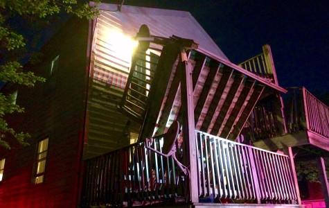 Four taken to hospital when Evanston porch collapses