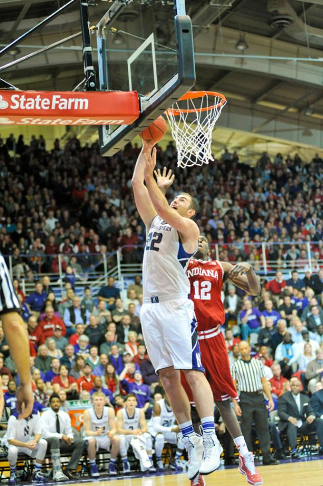 Junior center Alex Olah goes up for a layup. The Wildcats will be hitting the road for the Big Ten/ACC Challenge next season, as they travel to Blacksburg, Virginia to play Virginia Tech for the first time ever.
