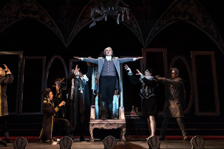 Cast+members+rehearse+for+Gilbert+and+Sullivan%E2%80%99s+opera%2C+%E2%80%9CRuddigore.%E2%80%9D+The+opera+follows+the+story+of+a+curse+placed+on+the+Murgatroyd+family.