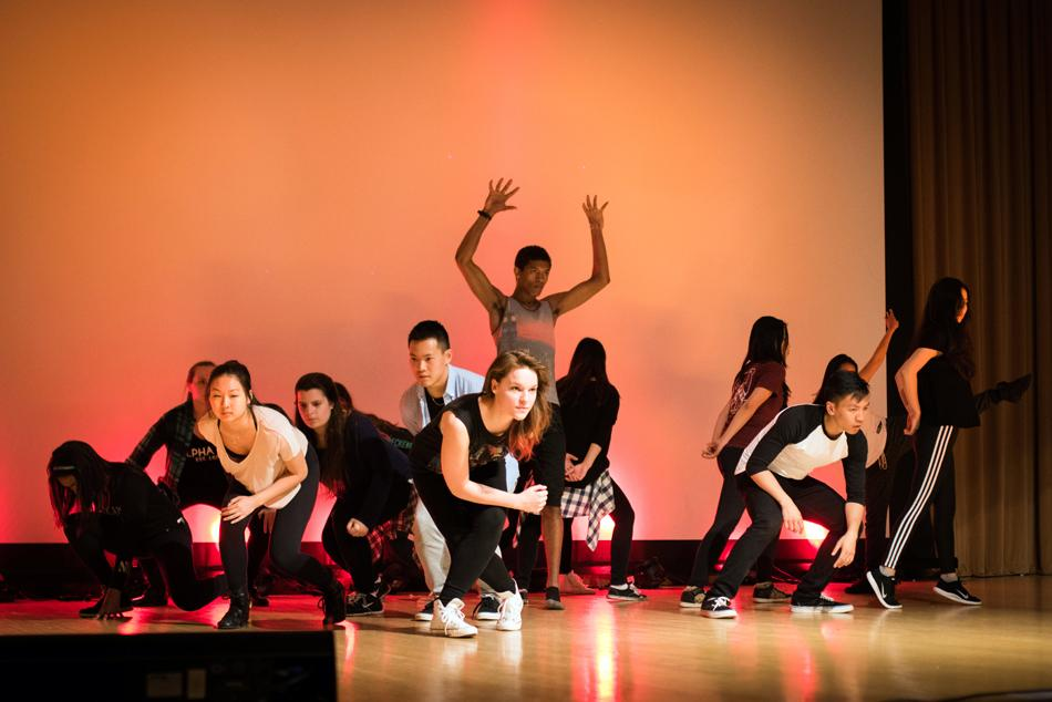 Performers rehearse for ReFresH Dance Crew's first ever solo show. The urban and hip-hop dance organization is made up of more than 70 members.