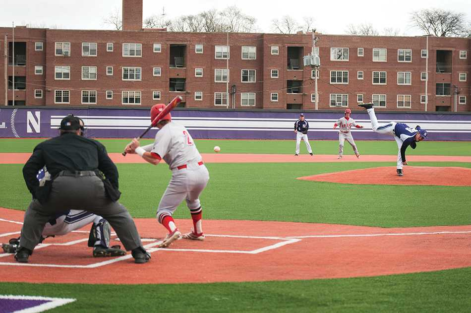 Sophomore pitcher Pete Hofman throws a pitch. Hofman and the Wildcats welcome Nebraska to Evanston for a three-game series this weekend.