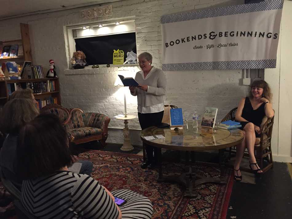 "Saturday Night Live alumna Julia Sweeney reads from her memoir ""If It's Not One Thing, It's Your Mother."" Sweeney and local author Christine Sneed participated in a reading and conversation held Friday night at Bookends & Beginnings."