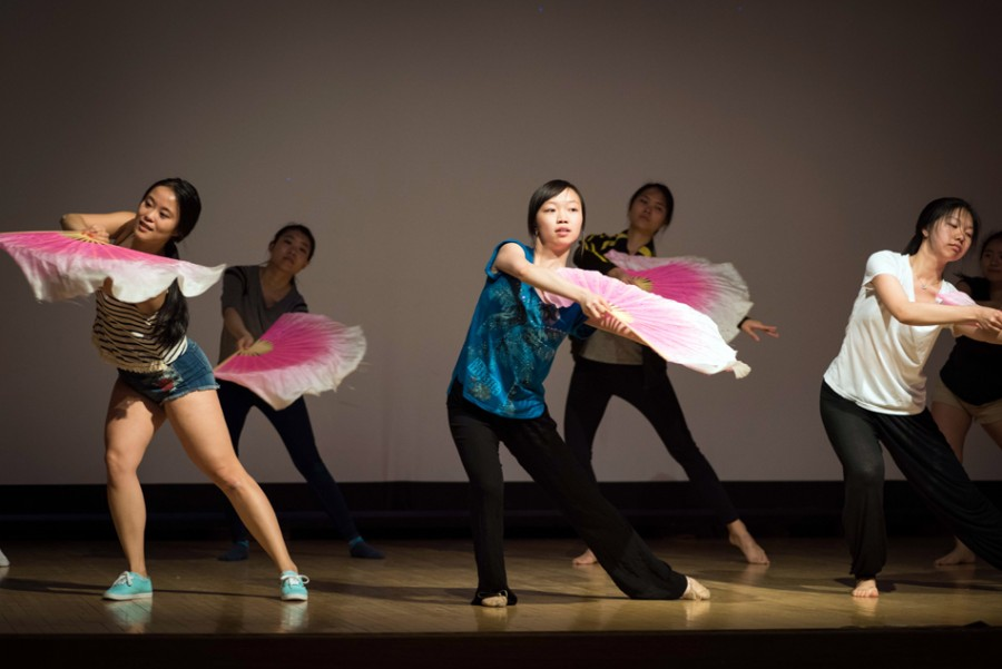 "Members of Typhoon Dance Troupe rehearse for their upcoming spring show, ""Hourglass."" The organization is celebrating its 10-year anniversary this year."