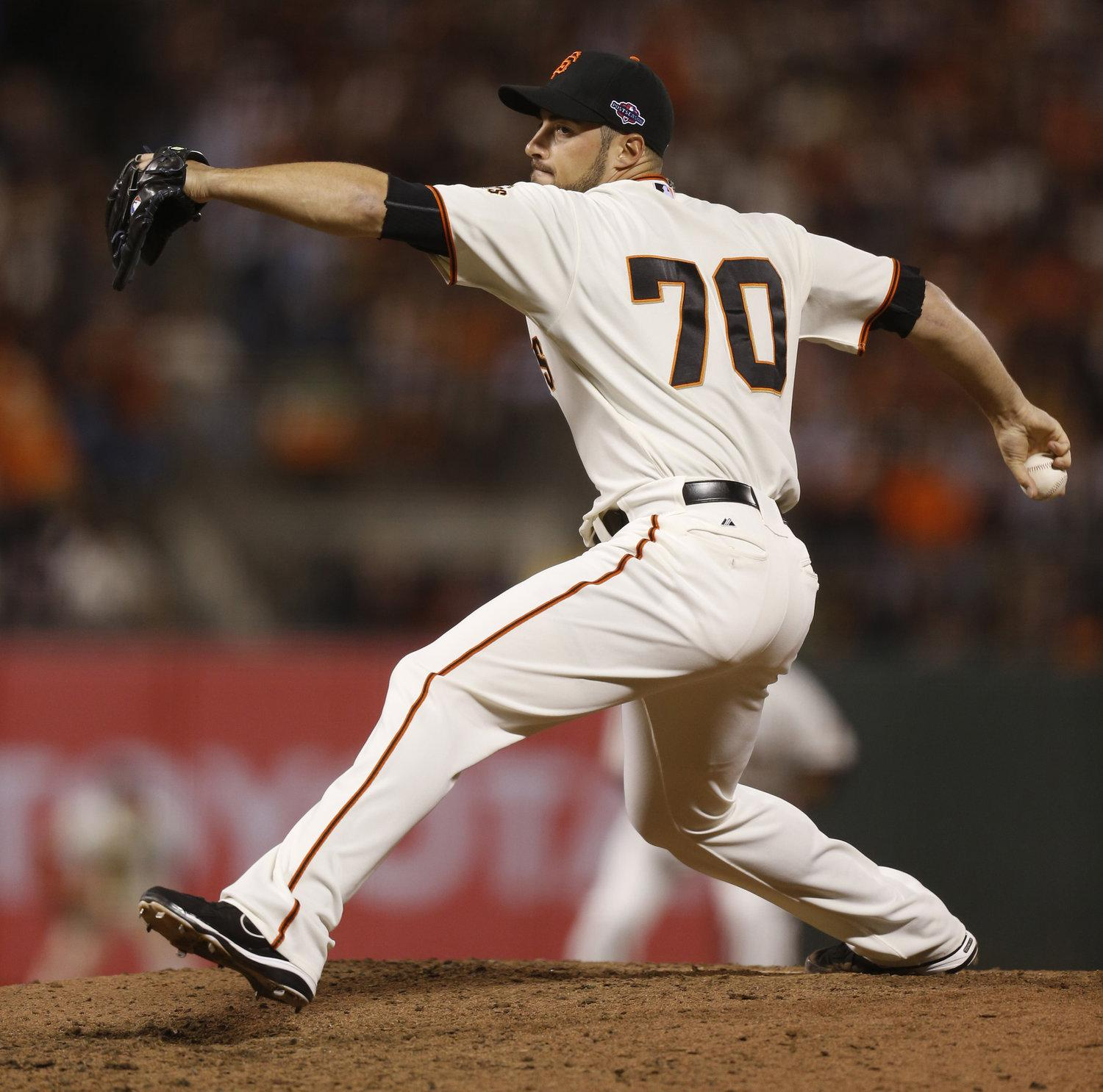 Former Northwestern pitcher George Kontos has become a key reliever in the San Francisco Giants' bullpen.