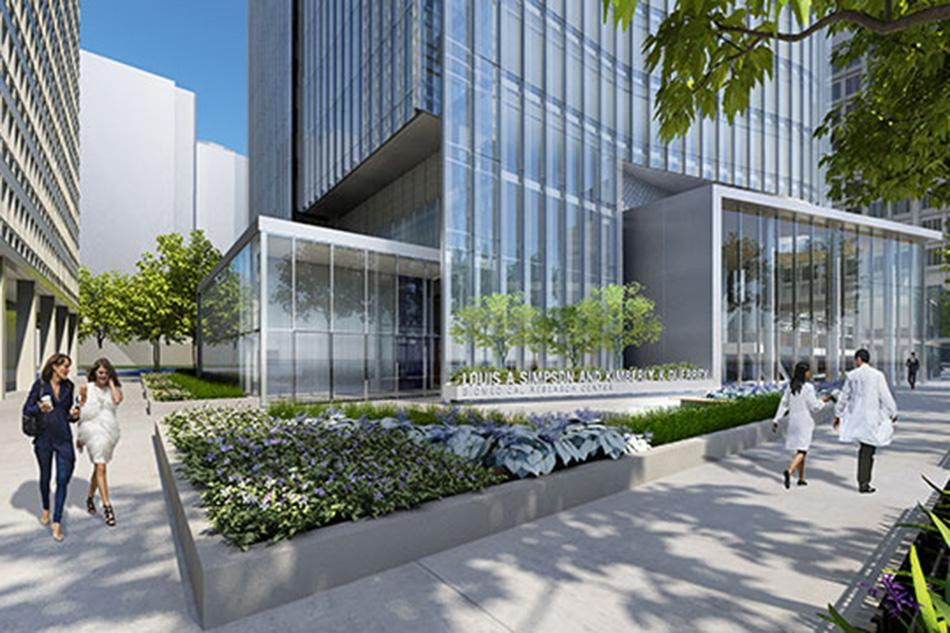 A rendering of the Feinberg School of Medicine's incoming biomedical research center on the Chicago Campus. The Louis A. Simpson and Kimberly K. Querrey Biomedical Research Center broke ground in May after a $92 million donation from the couple to the We Will campaign.