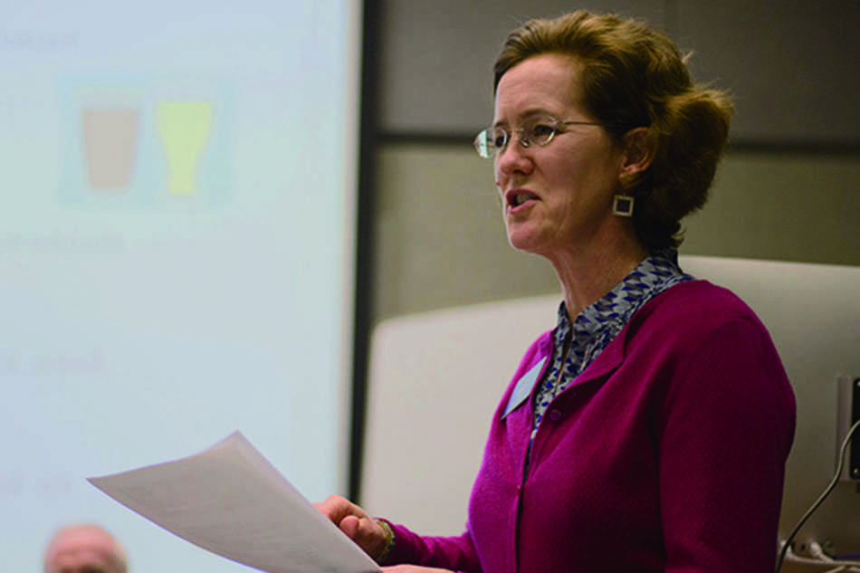Ald. Jane Grover (7th)  testified Monday before a state task force on government consolidation.