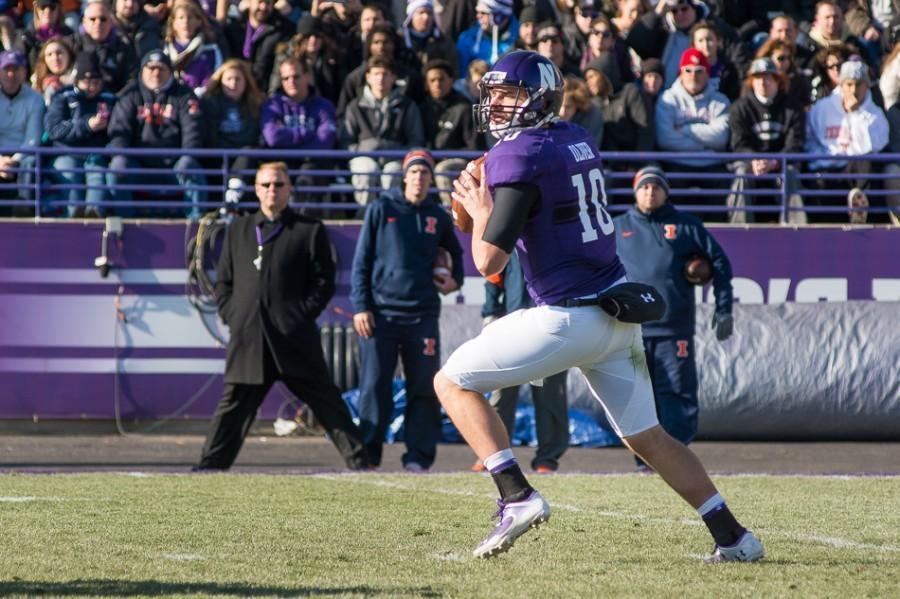 Senior Zack Oliver is one of three quarterbacks vying for Northwesterns starting job, along with redshirt freshman Clayton Thorson and sophomore Matt Alviti