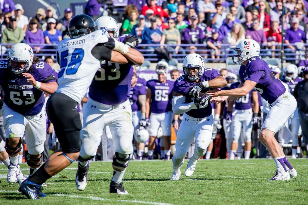 Junior running back Warren Long sprinted 55 yards for Northwestern's lone offensive touchdown of the game Saturday. The Wildcats rushed for 201 yards in their win over Duke.
