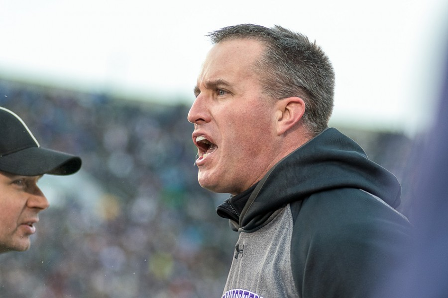 Northwestern beat a nationally ranked opponent Saturday, but coach Pat Fitzgerald found plenty to criticize anyway.