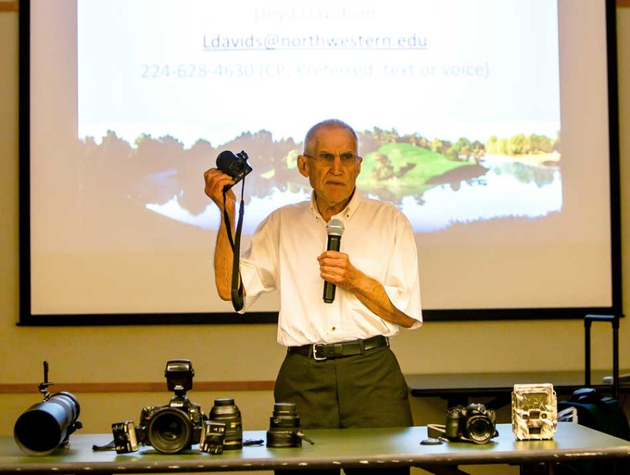 An Evanston photographer and retired NU Life Sciences librarian is speaking at the Evanston Public Library about the art of nature photography. Starts at 7 p.m. in the community meeting room.