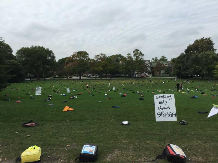 More+than+1%2C000+backpacks+covered+Deering+Meadow+Monday+to+commemorate+students+who+died+by+suicide.+%E2%80%9CSend+Silence+Packing%2C%E2%80%9D+hosted+by+student+life+offices+at+NU%2C+attracted+hundreds+of+students+in+an+effort+to+promote+conversations+about+mental+health+and+wellness.+