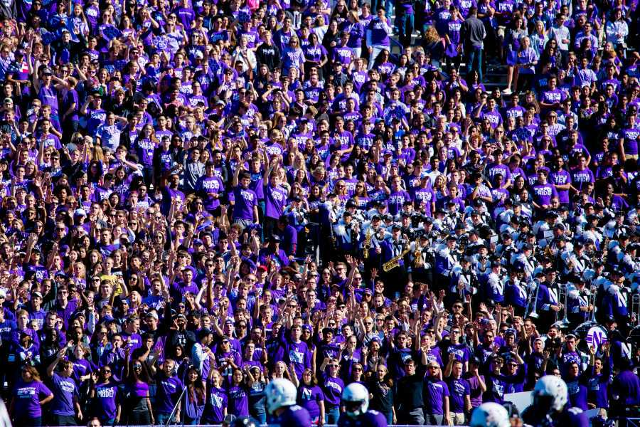Fans in the student section cheer on the Wildcats during their Sept. 12 matchup against Eastern Illinois. Northwestern's 3-0 start has revived optimism about the team.