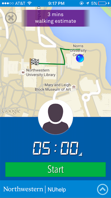 SafeWalk, a feature in the new NUHelp app, allows students to set a timer for their trips between campus and Evanston locations. If students fail to cancel the timer, a message will be sent to a safety contact urging them to contact NUPD.