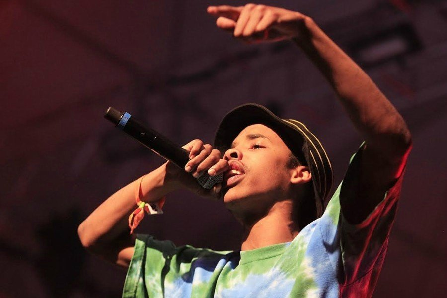 Rapper Earl Sweatshirt, real name Thebe Kgositsile, performs at the Coachella Music and Arts Festival in April 2013 in Indio, California.