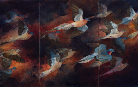 """""""Tenebrous Flight"""" by Kristina Knowski is a part of """"Birds in Jeopardy,"""" a new exhibit at the Noyes Cultural Arts Center. The exhibit opens on Nov. 1."""