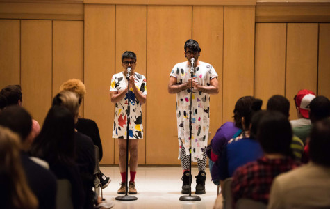 DarkMatter presents poetry performance #ItGetsBitter at Rainbow Alliance's fall speaker event