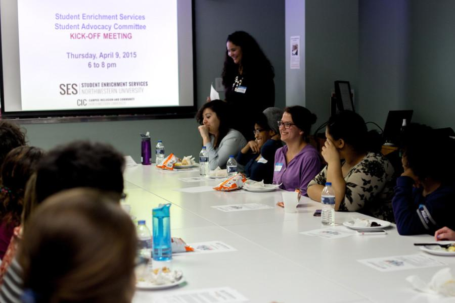 The Center for Student Enrichment Services holds a student advocacy committee kick-off meeting at Scott Hall in April 2015. This year, the center will implement changes in an effort to serve the needs of first-generation and low-income students.