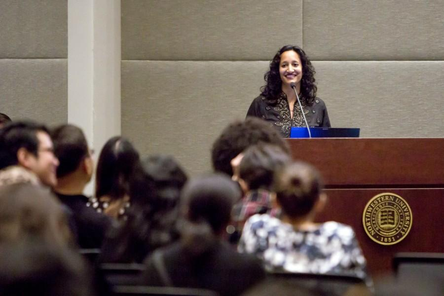 Sumun Pendakur (Weinberg '98) speaks at Hardin Hall 20 years after her participation in a hunger strike for the creation an Asian American Studies Program. This quarter, students are demanding an Asian American studies major through an online petition released Tuesday.