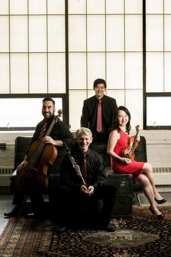Civitas Ensemble's four members are Kenneth Olsen, J. Lawrie Bloom, Yuan-Qing Yu and Winston Choi. The ensemble will perform a composition by Evanston resident Roger Zare on Oct. 16.