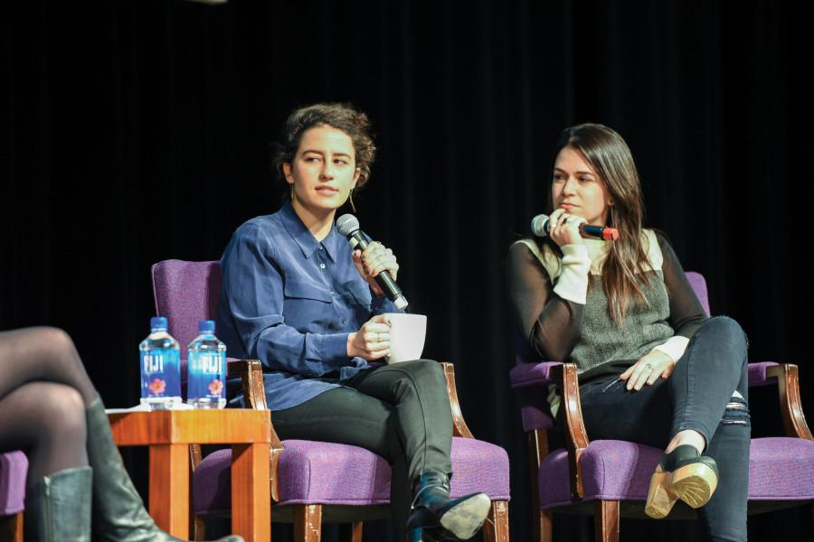 %E2%80%9CBroad+City%E2%80%9D+stars+Ilana+Glazer+and+Abbi+Jacobson+speak+about+Judaism%2C+comedy+and+TV+success.+A%26O+Productions+and+NU+Hillel+featured+the+duo+as+their+fall+speakers+for+a+crowd+of+about+500+people.