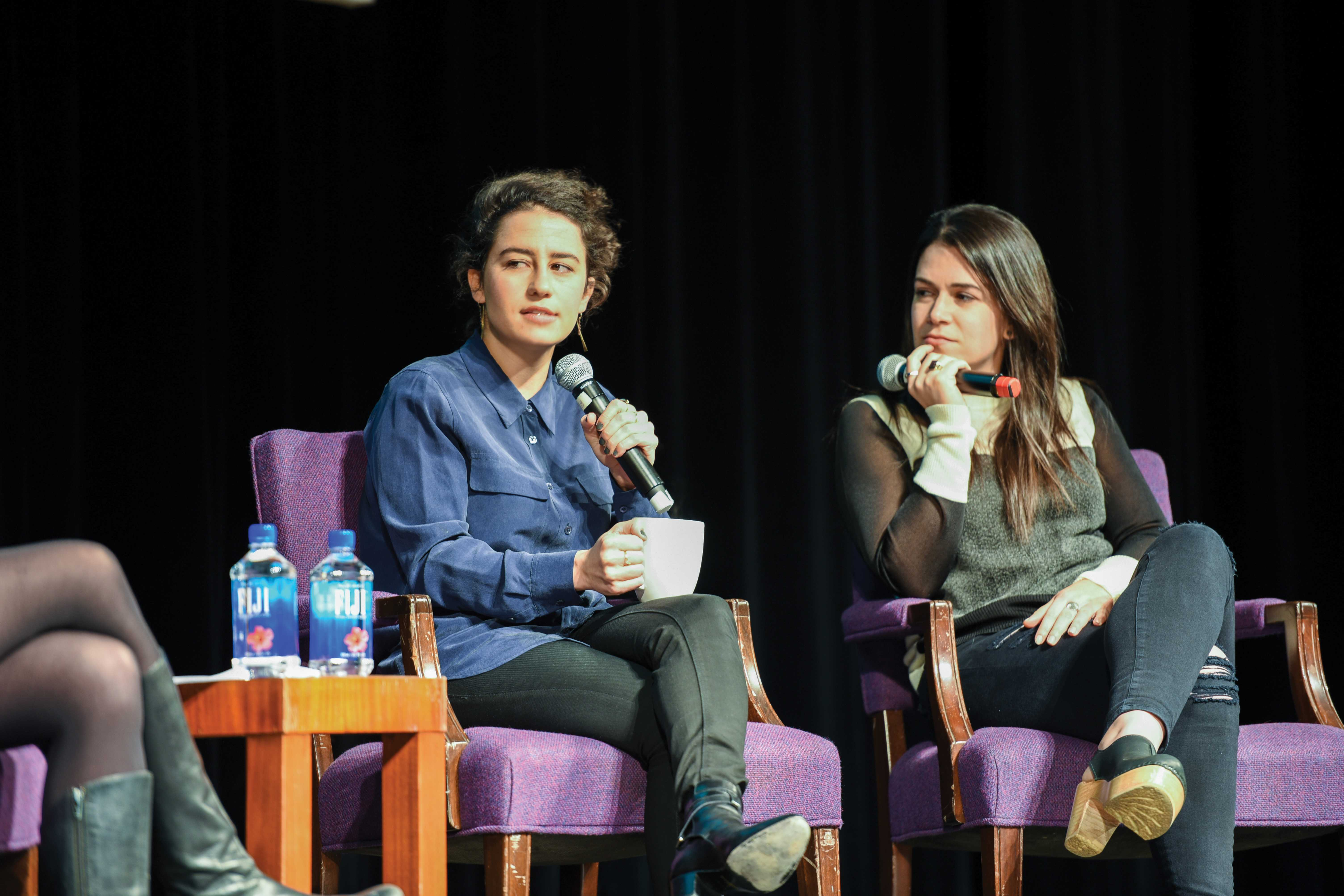 """Broad City"" stars Ilana Glazer and Abbi Jacobson speak about Judaism, comedy and TV success. A&O Productions and NU Hillel featured the duo as their fall speakers for a crowd of about 500 people."