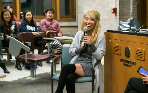 Christine Chen tells Northwestern students about her experiences as an Asian-American female film producer. The YouTube celebrity visited Saturday to speak out about female and Asian representation in the film industry.