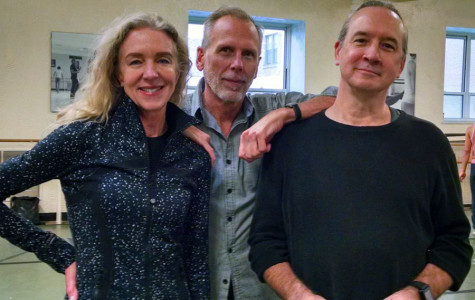 "Northwestern alumni Laura Schwenk-Berman (Communication '96) and Jeff Bauer (Communication '81), pictured left and middle, and freelance choreographer Gordon Peirce Schmidt, pictured right, put together the upcoming production The ""Day of the Gypsy."" The show highlights the unique genre of gypsy jazz."
