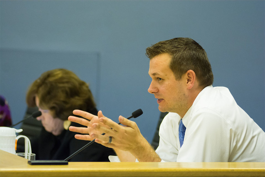 Ald.+Brian+Miller+%289th%29+attends+a+City+Council+meeting.+Miller+said+he+was+in+favor+of+the+amendments+to+the+housing+ordinance+but+proposed+they+expire+after+four+years+so+council+can+review+the+efficacy+of+the+ordinance.+