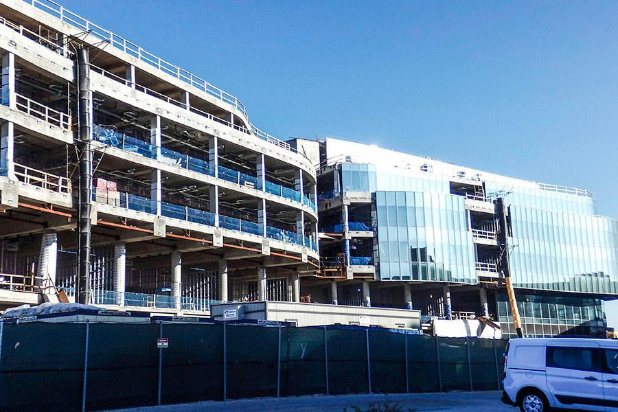 The Kellogg School of Management's Global Hub construction project reached its final height in October. The new building, scheduled to open in Fall 2017, is designed to be a collaborative space for Kellogg faculty and students.
