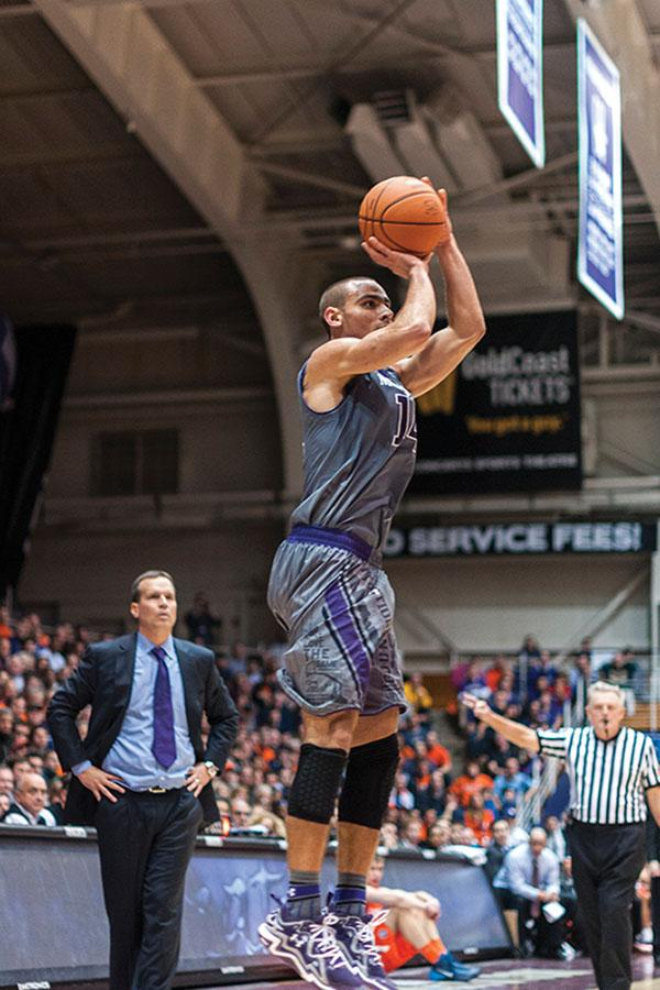 Tre Demps raises up for a jump shot. The senior guard will be looking to build off of a junior season in which he averaged 12.5 points and was a consensus honorable mention All-Big Ten selection.