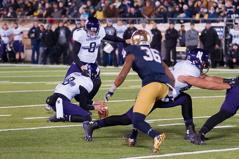 Northwestern beat Notre Dame last November thanks to two clutch kicks from Jack Mitchell. After the game, Wildcats players were treated to a special post-game meal: Chick-fil-A.