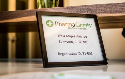Medical marijuana provider Pharmacannis hosted an open house at its Evanston location Monday. The dispensary, located at 1804 Maple Ave. passed its final state inspection.