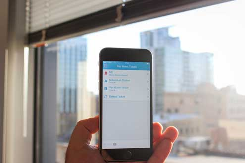 A shot of the new Ventra app, which will allow transit riders to track trains and buses, reload passes and plan regional trips. The app will debut Thursday after delays from poor user experience and technical glitches.