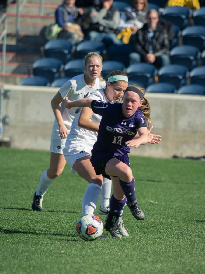 Sophomore forward Michelle Manning dribbles upfield. Manning and the Wildcats have earned a berth in the NCAA Tournament for the first time since 1998.