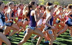 A pair of Wildcats sprint off the line at the start of a race. NU's season is over, but the team is still training with the hope that this time next year, it will still be competing.