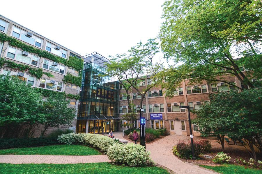 Elder Hall, an all-freshman residence hall on North Campus, is one of 26 undergraduate residential buildings on campus. Northwestern Residential Services is changing aspects of its undergraduate housing model, including a shorter period to sign a contract with the University to live on campus next year.